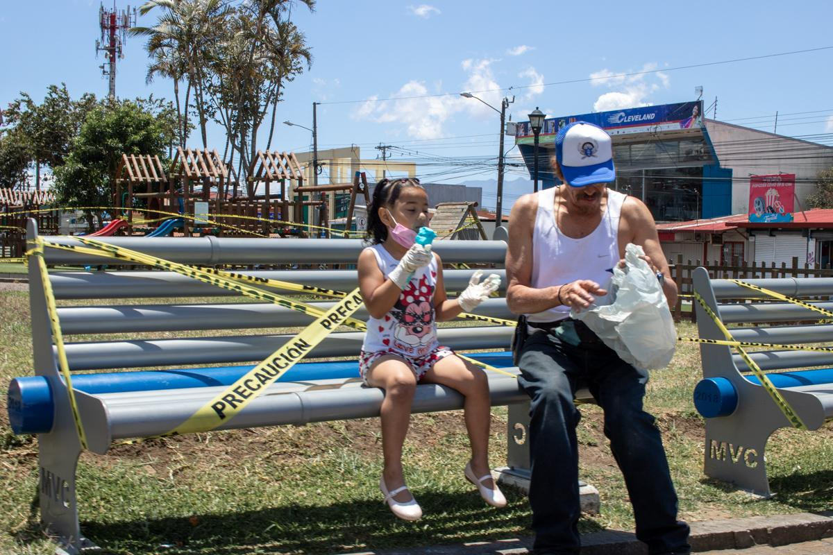 Marzo 2020, Pandemia Covid-19 Parque de Coronado, SJ, Costa Rica.
