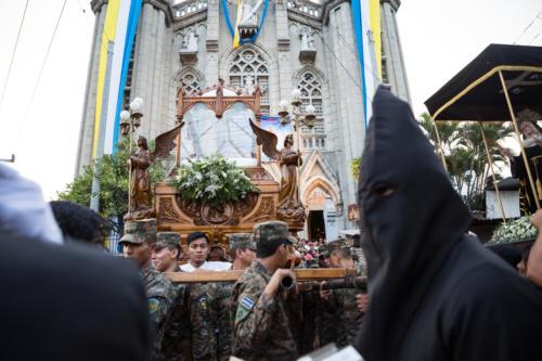 No os asusteis. Son tan solo las representaciones culturales salvadoreñas.