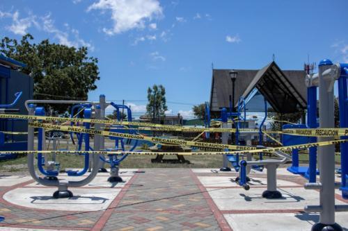 Parque Coronado, SJ, Costa Rica. Cerrado por Covid-19, Marzo 2020.