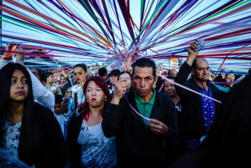 La procesión es un ente vivo, una especie de conciencia colectiva.