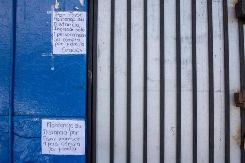 Comercio de Coronado, cerrado por Corona Virus, Marzo 2020.