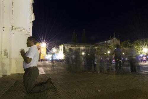 Una noche en la catedral finalizando la conmemoración de Semana Santa.